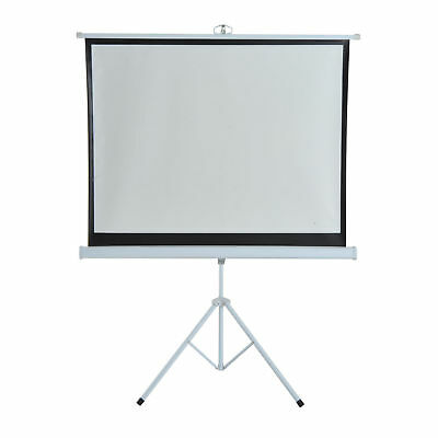 """4:3 Portable Projection Screen Ratio Adjustable Easy Pull-up Home Cinema 120"""""""