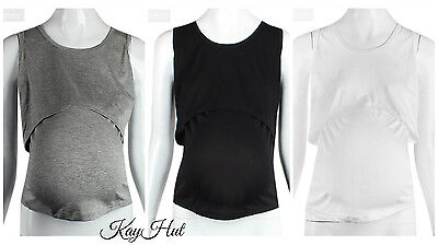 Maternity Tops with Light Material & Breast Feeding Access AUSSize 10-12 Comfort