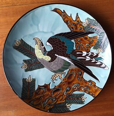 Vintage Japanese Falcon Plate - STUNNING!!