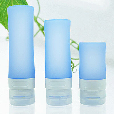 Silicone Refillable Lotion Shampoo Empty Bottles Travel Container 3 types