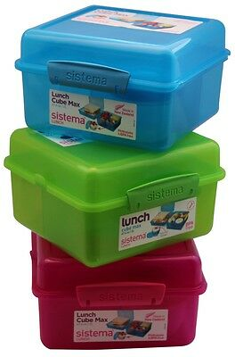 Sistema 2L Lunch Cube Max with yoghurt tub - bento style lunch box