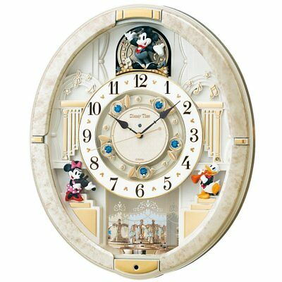 NEW SEIKO Wall Clock Mickey Mouse Radio waves 12 Melodies Disney Time FW580W EMS