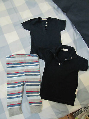 purebaby Size 000  2  x  t-shirts and 1 x 3-6 months pants