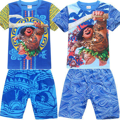 MOANA Maui boys kids summer set short sleeve pyjama pjs size 3-8 AU stock xmas