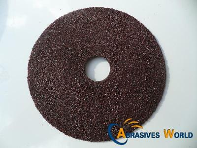"25 PCS 180mm (7"") ABRASIVE FIBER SANDING DISCS FOR METAL SANDING, Grit 24"