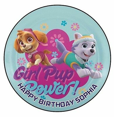 Paw Patrol Edible Icing  Image Cake Birthday Party Topper Personalised 19cm