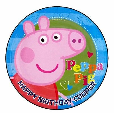 Peppa Pig edible image icing sheet birthday party cake topper personalised