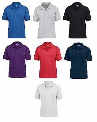 3 Pack Kids Boys Girls Gildan Dryblend Jersey Polo Shirt Casual Uniform School