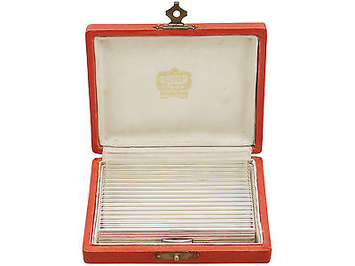 Vintage French Silver Mirror Compact by Cartier Circa 1940