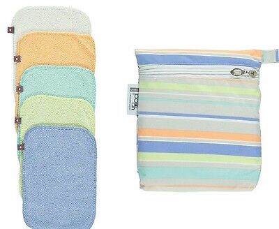 Close parent pop in washable baby wipes - 10 wipes-pastel colours plus zip bag!