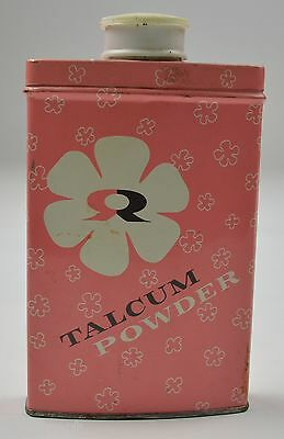 Vintage Rawleigh's Talcum Powder Tin Collectible Advertising Decor Bottle
