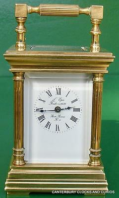 L'epee Vintage French Miniature Venitienne 8 Day Boudoir Carriage Clock