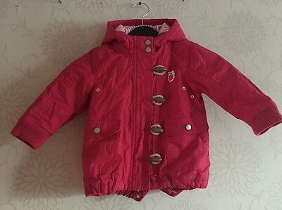 NEXT Red Summer Hooded Jacket 12-18 Months