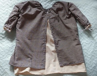 colonial 18th century civil war SCA infant toddler 2 piece gown hand stitched