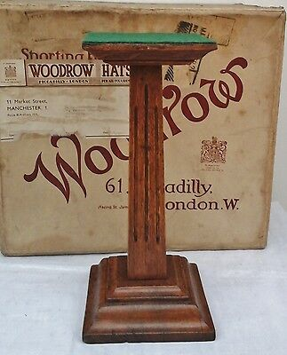 Lovely Original Art Deco, Oak Hat Stand, Millinery Shop Display.