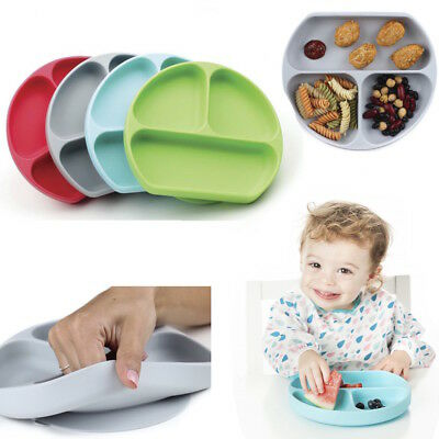 Bumkins Toddler Silicone Suction Plate Bowl Grip Dish Microwave & Diswasher Safe