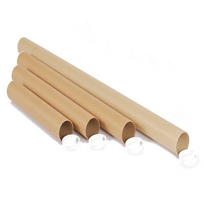 Cardboard Postal Mailing Tube for Posters with End Caps A4 A3 A2 A1 A0 20 SIZES