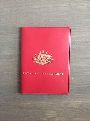 1973 Royal Australian Mint Coin Set in Red Plastic Wallet