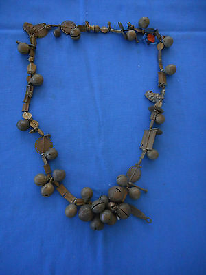 Antique African Baule bronze necklace mali