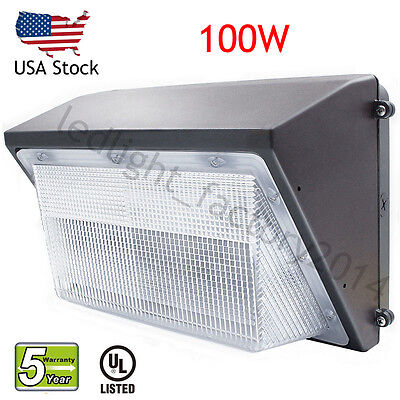 100Watt LED Wall Pack Fixture Security Light Outdoor Replace 400W MH/HPS 10500LM