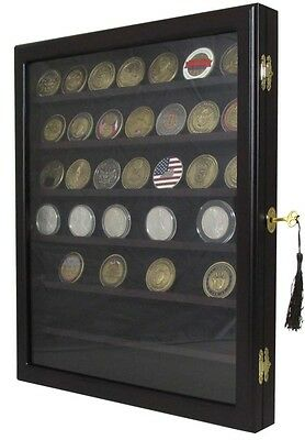 Lockable Wall Mounted Military Challenge Coin Casino Chip Rock Display Cabinet