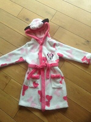 Baby Girls Minnie Mouse Dressing Gown - Age 18-23 Months.