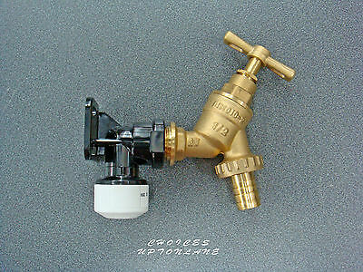 "BRASS GARDEN TAP 1/2""+15MM HEP2o PUSH FIT WALLPLATE ELBOW BRACKET *NEW VERSION*"