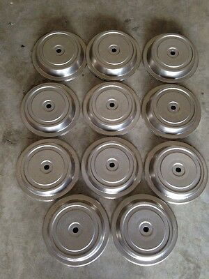 Stainless Steel Plate Lids Fits 10 1/2 To 11  Inch Plates Lot Of 11