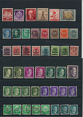Germany, Deutsches Reich, Nazi, liquidation collection, stamps, Lot,used (LW 24)