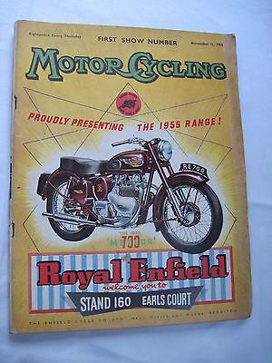 The Motorcycle London Show Guide 1954.