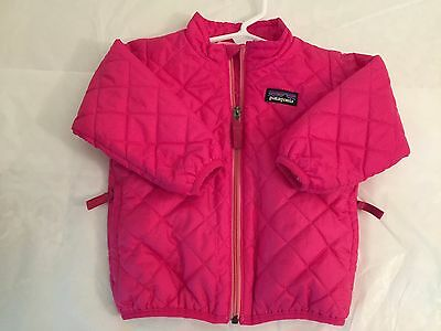 Patagonia Baby Girl's Nano Puff Jacket. Rossi Pink. Size 12  Months