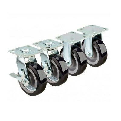 Krowne Extra Heavy Duty Large Plate Caster, Set of 4