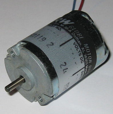 TRW Globe 405A Motor - 24 V - Permanent Magnet Motor - Made in USA - 5200 RPM