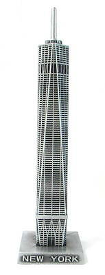 "Metal Freedom Tower One World Trade Center New York Souvenir 6.5"" Tall"