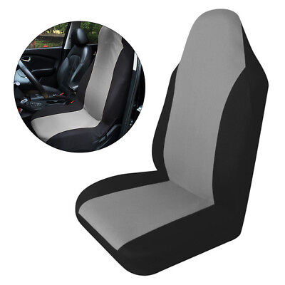 Universal Removable Nylon Car Van Auto Seat Cover Protector Mat Black+Grey MA547