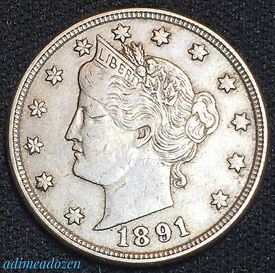 1891 5C Liberty Nickel GM4370