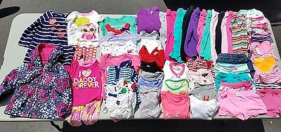 18 month girls clothes lot, used-good condition, 50+ items