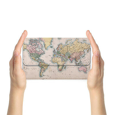 Rfid Blocking Anti Scan Travel Passport Wallet Purse Pouch Cover World Map