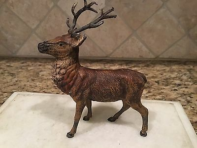 Antique German Lead Metal  Reindeer Deer Animal Minature