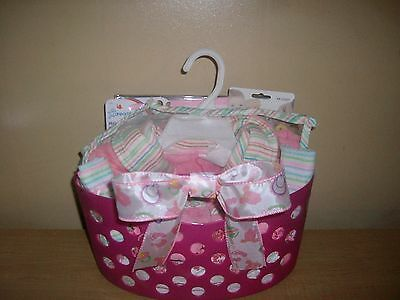 Baby Girl Hooded Robe Bath Time Baby Shower Gift Basket or Centerpiece