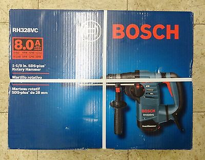 """Bosch RH328VC 1-1/8"""" SDS-Plus Rotary Hammer w/ Hard Carrying Case Free Shipping"""