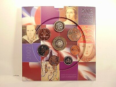 A 2002 Royal Mint Brilliant Uncirculated Coin Set / collection still mint sealed