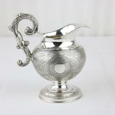 Antique French Empire Silver Creamer Small Pitcher Touch Mark 19th Century Rare