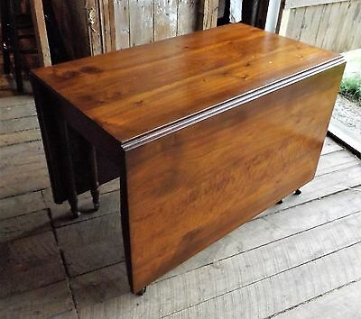 Vintage Large Cherry Drop Leaf Gate Leg Dining Table