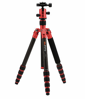 MeFOTO Aluminum Roadtrip Travel Tripod/Monopod w Ball Head Kit - Red (A1350Q1R)