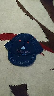 baby boys junior j summer cap/ hat size 0-6 months