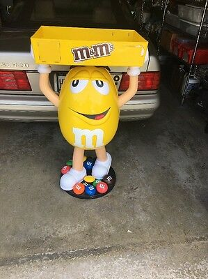 M&M Yellow Peanut Character Figure Store Advertising Display  PICK UP ONLY