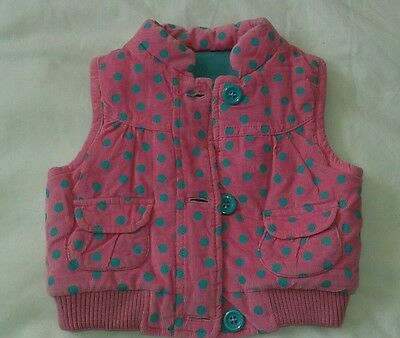 Baby kids body warmer 3-6mths jacket coat girls mothercare padded