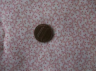 ~Back In Time Textiles~ Antique 1880-1910 pink sprig fabric pieces~