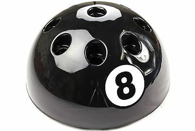 New Giant Circular Black 8Ball Cue Rack Stand Snooker Billiard Pool Table 9 Cues